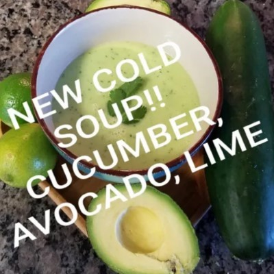 Cold Cucumber, Avocado, Lime Soup (12 oz)