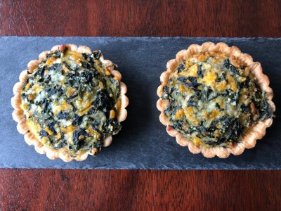Spinach & Cheese Quiche