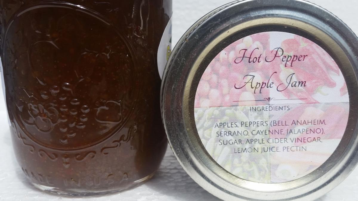 Hot Pepper Apple Jam (8 oz.)