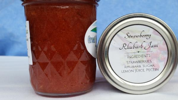 Strawberry Rhubarb Jam (8 oz.)
